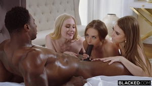 Kyler Quinn amongst Emma Star interracial sex