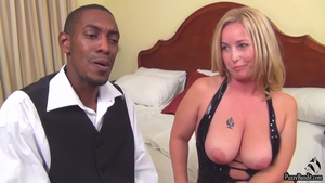 Huge boobs mature interracial bang at casting
