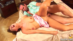 Large tits brunette really likes fucking HD