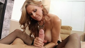 Jonni Darkko in company with pornstar Julia Ann in the woods