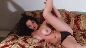 Solo big boobs babe teasing