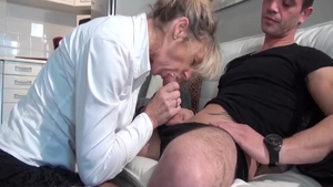 Swallow large boobs french HD