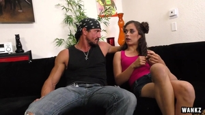 Dirty brunette Ziggy Star handjob