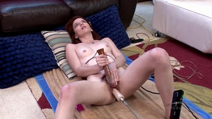 Hairy female sex with toys HD