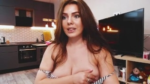 Striptease on live cam shaved russian