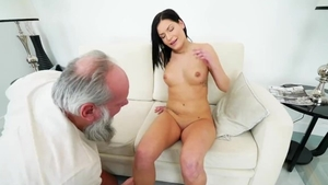 Rough nailing with small boobs brunette
