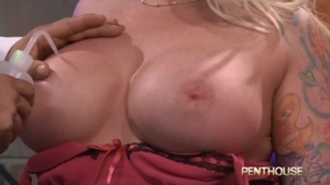 Huge boobs Angel Vain enjoys nailed rough