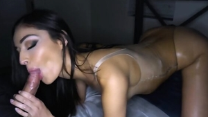 Brunette receives pussy fucking
