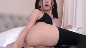 Solo asian girl in tight stockings bondage