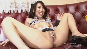 Uncensored creampie incredible japanese maid