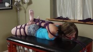 Very kinky babe fetish bound gagging in HD