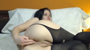 DP live on webcam next to big tits female in sexy stockings