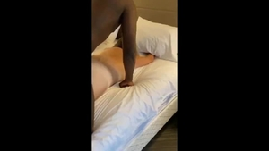 Chubby big butt hotwife raw interracial fucking on holidays