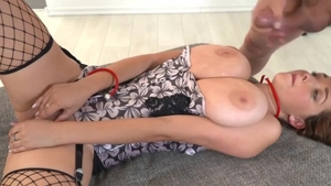 Fingering huge tits czech Lucie Wilde in tight stockings