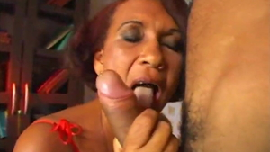 Plowing hard in company with saggy tits african MILF