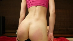 Skinny amateur wants hard slamming in leggings in HD