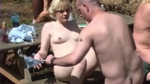 Filthy police officer taboo interracial banging in park