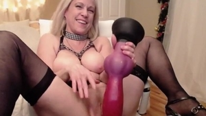 Sex toys on webcam together with beautiful stepmom