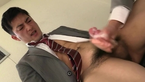 Handjob in office incredible japanese