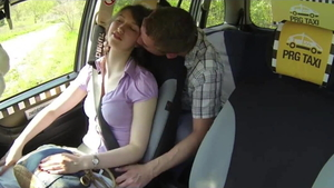 Orgasm along with czech girl Susan Ayn in the taxi in HD
