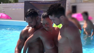 Nudist french cuckolding outdoors