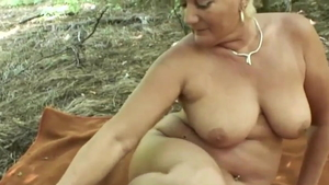 German mature nailed rough outdoors