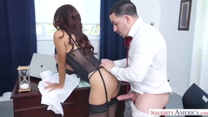 Interracial fucking in office HD