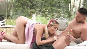 Lika Star is really small boobs blonde babe