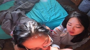 Asian college girl goes for rough fucking