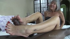Nailing accompanied by petite stepmom