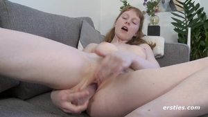 Solo petite redhead fucked in the ass