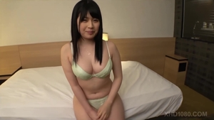 Huge tits japanese brunette helps with rough nailing in HD