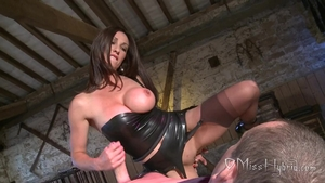 English brunette wishes for hard fucking in tight stockings