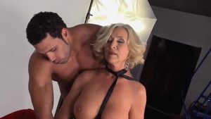 Hard pounding with american granny