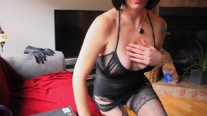 Beautiful british brunette craving handjob in HD