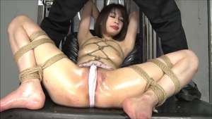Exotic chick asian brunette really likes bondage HD