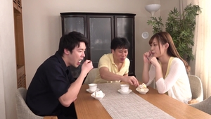 Threesome small tits japanese HD