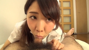Hairy asian brunette POV creampie HD