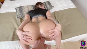 Ass fucking accompanied by nice big booty european bisexual
