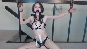 BDSM accompanied by skinny amateur