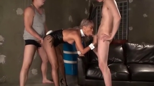Playing with toys hairy asian in tight stockings
