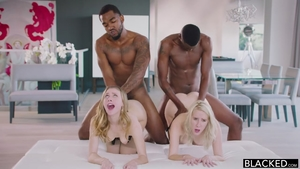 Foursome with young Cadence Lux alongside super hot Anya Olsen