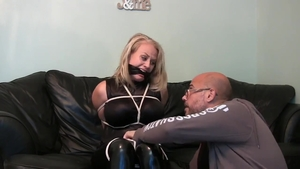 Hot latina blonde feels in need of captured