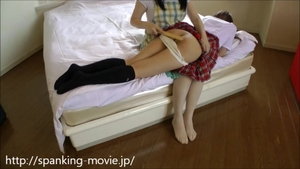 Sweet japanese amateur homemade spanking