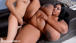 Young ebony babe Cotton Candi feels in need of sex in HD