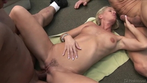 Ramming hard in company with hottest slut
