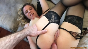 Nailing in company with large tits secretary