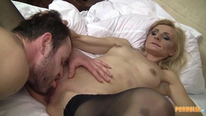 Very sexy mature blowjob cum at the party