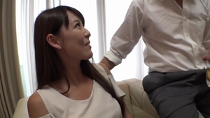 Hard pounding alongside hairy japanese MILF