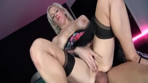 Rough nailing escorted by busty mature Rebecca Moore